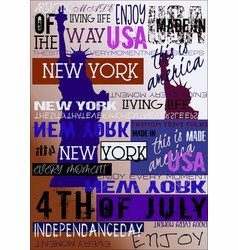 New york usa nyc poster 4th july edition vector