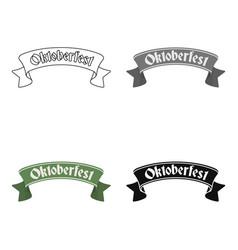 Oktoberfest banner icon in cartoon style isolated vector