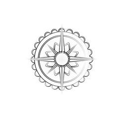 outline wind rose vector image