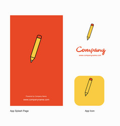 pencil company logo app icon and splash page vector image