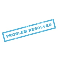 Problem Resolved Rubber Stamp vector image vector image