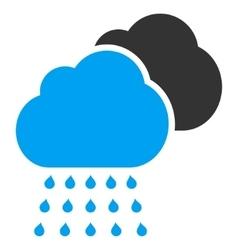 Rain Clouds Flat Icon vector image