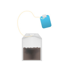 Realistic detailed 3d tea bag set vector