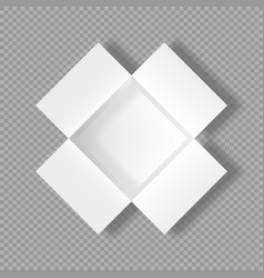 Realistic open box 3d cardboard mockup vector