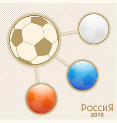 russia world cup infographic vector image