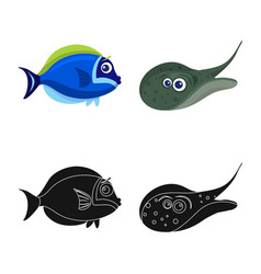 Sea and animal logo vector