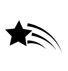 shooting star icon on white background flat vector image