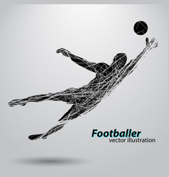 silhouette a football player vector image