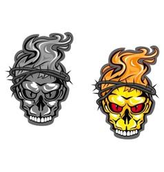 Skull tattoos vector image