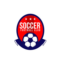 Soccer football club logo template vector