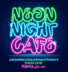 Sparkling light bright banner neon night ca vector