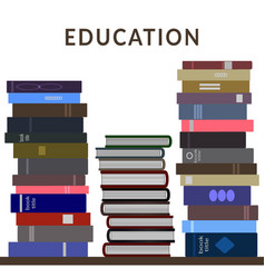 stack books vector image