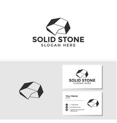 stone logo template with business card design vector image