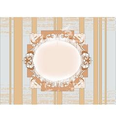 template vintage frame design vector image