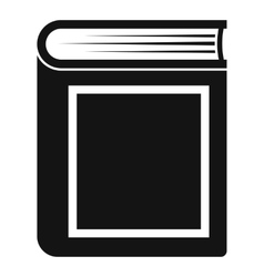 Thick book icon simple style vector