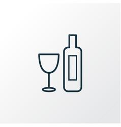 wine icon line symbol premium quality isolated vector image