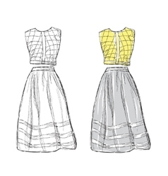 Women dress sketch vector image