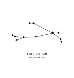 Zodiac constellation aries vector