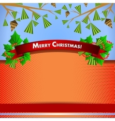 backdrop for christmas invitation or new year vector image vector image