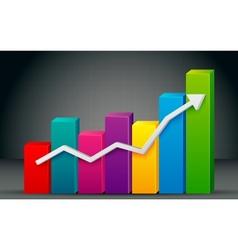 Colorful Bar Graph vector image