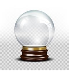 glass empty snow globe vector image vector image