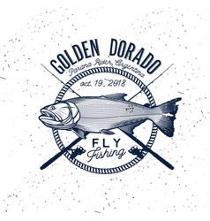 golden dorado fishing logo vector image vector image