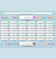 Large set of buttons for the site vector