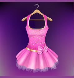 pink dress on hanger vector image vector image