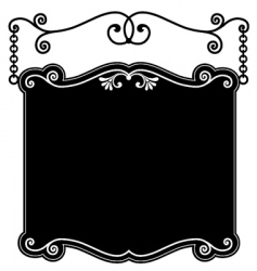 sign panel black vector image vector image
