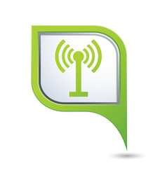 wi fi icon on green pointer vector image vector image
