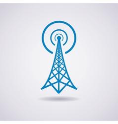 radio tower vector image