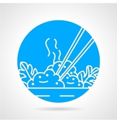 Rice dish abstract icon vector image vector image