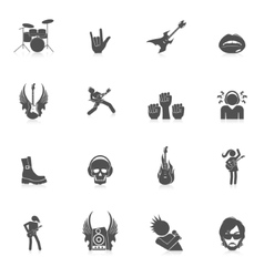Rock music icons vector image vector image