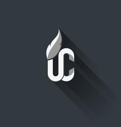 White on dark upper class logo vector