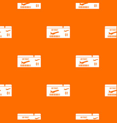 airline boarding pass pattern seamless vector image vector image