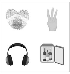gay music and other monochrome icon in cartoon vector image