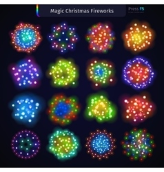 Magic Christmas Fireworks vector image vector image