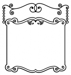 sign panel white vector image vector image