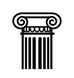 Column icon vector