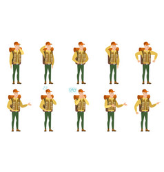 set of traveler characters vector image vector image