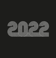 2022 line art design retro 70s style numbers vector