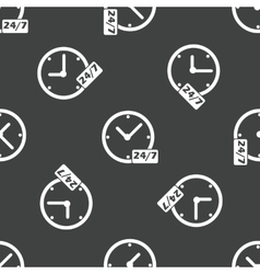 24 hours pattern vector image