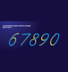 3d blend numbers vector