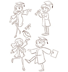 A graduation ceremony vector image