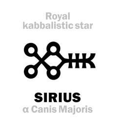 Astrology sirius the royal behenian kabbalistic vector