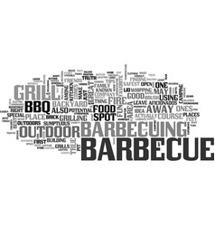Bbq safety tips text word cloud concept vector