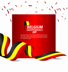 Belgium independence day celebration template vector