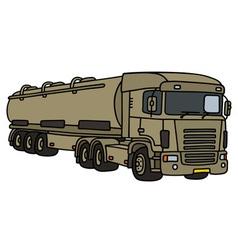 Big military tank truck vector