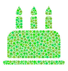 Birthday cake collage of dots vector