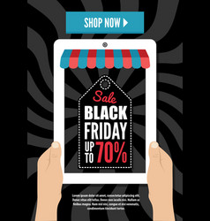 black friday electronic commerce design vector image